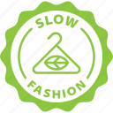 green, label, slow fashion, slow, fashion, fair, eco icon