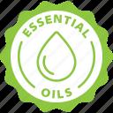 green, label, essential oils icon