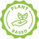 green, label, plant based, plant, vegan, vegetarian, food