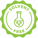 green, label, solvent free, solvent, free icon