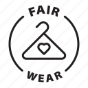 label, tag, badge, fair wear, fair, wear, slow fashion