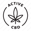 label, tag, badge, active cbd, cbd, cannabis, drops