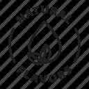 label, badge, natural flavors, natural, flavoring, flavors