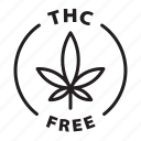 label, badge, thc free, thc, medical, cannabis, free