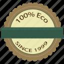 badge, eco, friendly, label