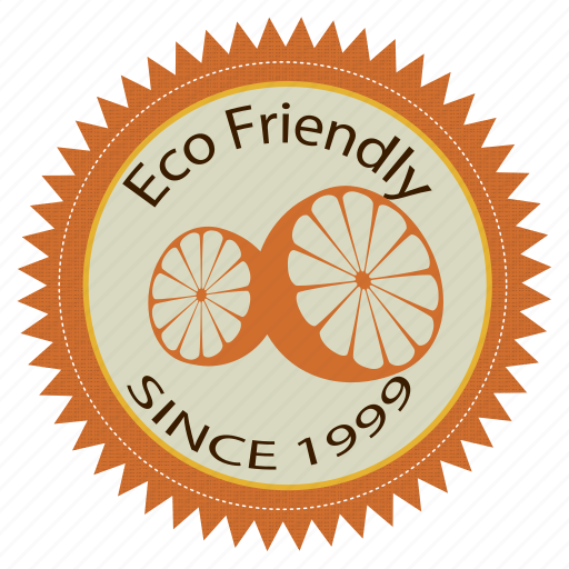 badge, eco, friendly, label icon