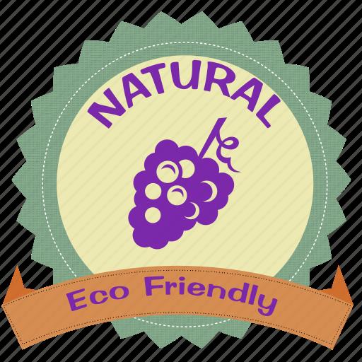 badge, eco, friendly, label icon
