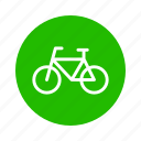 bicycle, earth, eco, energy, nature, recycle icon