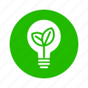 bulb, earth, eco, energy, nature, recycle icon