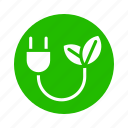 earth, eco, electric, energy, leaf, nature, recycle icon