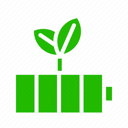 Energy, battery, charging, leaves, power icon - Download on Iconfinder
