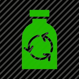 bottle, earth, eco, energy, nature, recycle icon