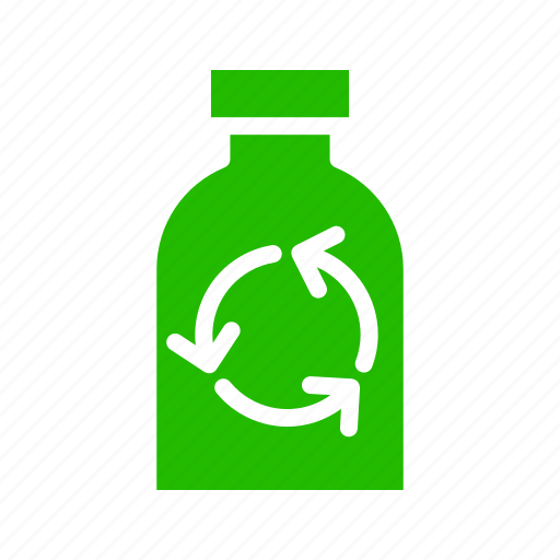 bottle, plastic, recycle icon