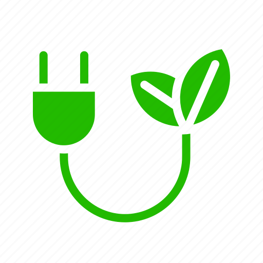 eco, electric, energy, leaves, plug, recycle icon