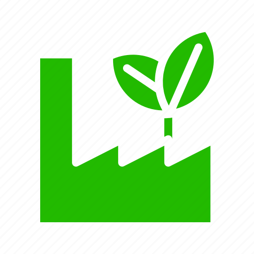 Earth, eco, energy, factory, industry, nature, recycle icon