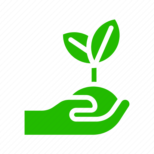 earth, eco, hand, plant icon