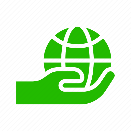 Hand, earth, save, world icon - Download on Iconfinder