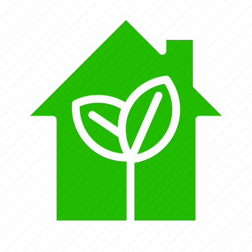 home, house, leaves, plant icon