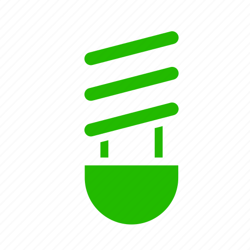 earth, eco, energy, fluorescent, lamp, nature, recycle icon