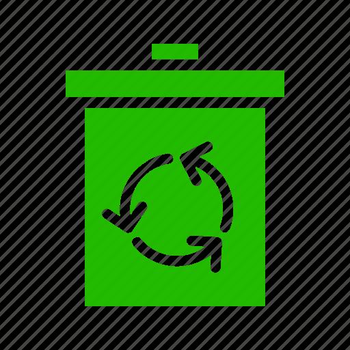 bin, compose, recycle, trash icon