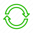 arrow, recycle, sync icon