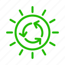 eco, energy, recycle, sun icon