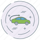 car, charging, eco, ecology, environment icon