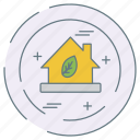 eco, ecology, environment, green, house icon