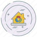 eco, ecology, environment, house icon
