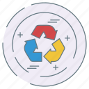 eco, ecology, environment, recycler icon