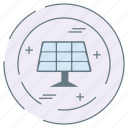 eco, ecology, environment, panel, solar icon