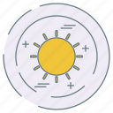 eco, ecology, environment, sun icon