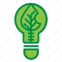 ecology, electricity, leaf, lightblub