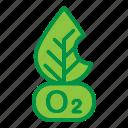 ecology, leaf, oxygen, pollution icon