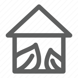 eco, forest, green, house, nature icon