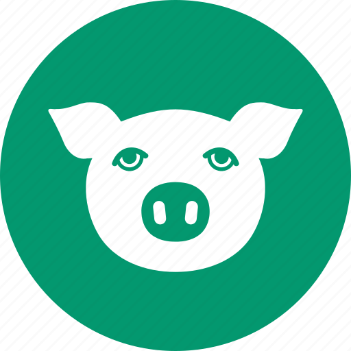 agriculture, animal, farm, head, pig, piggy, pork icon