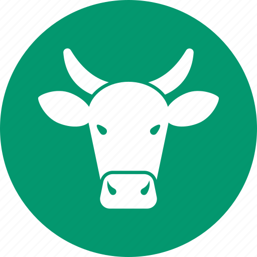 agriculture, beef steak, bull, butcher, cattle, cow, farm icon