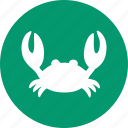 claw, crab louse, crabmeat, grouch, restaurant, sea food, seafood icon