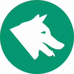 dog, domestic animals, pet, pets, vet, veterinary, wolf icon