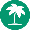 coconut palms, palm beach, tourism, travel, tree, tropical island, vacation icon
