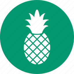 ananas, exotic, fruit, pineapple, sweet, tropical, vegetarian icon
