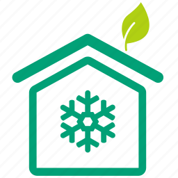 cool house, eco, eco home, ecology, green, home, temperature icon