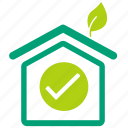 cool house, eco, eco home, eco house, green house, home, house icon