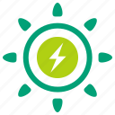 clean energy, clean power, electric, green energy, solar, solar power, sun icon