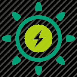 clean energy, clean power, electric, green energy, solar, solar power, sun icon