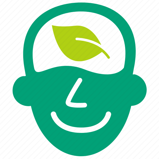 ecology, environment, go green, mind, nature conservancy, think, think green icon
