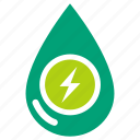 clean energy, clean power, eco, electric, green energy, power, water power icon