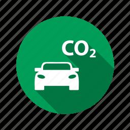 auto, automobile, car, co2, machine, pollution, traffic, transport, transportation icon