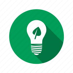 bright, energy, green, idea, lamp, light, lightbulb, sheet, shine icon