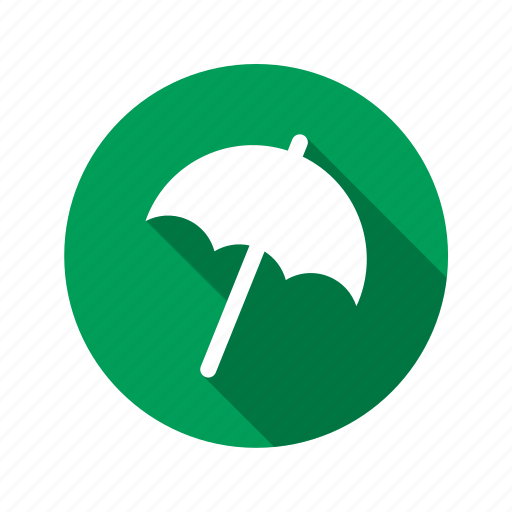 cloud, day, green, security, umbrella, weather icon
